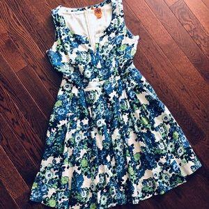 TORY BURCH Floral Linen Dress